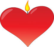 płomienia serce ilustracja wektor