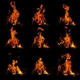 Płomienia set Obraz Royalty Free
