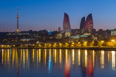 Płomienia wierza w Baku Zdjęcia Royalty Free