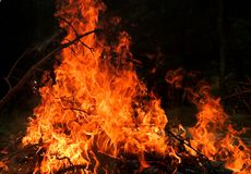 płomienie Obrazy Royalty Free
