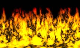płomienie Zdjęcie Stock