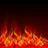 płomienie ognia royalty ilustracja