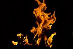 płomienie ognia obrazy stock