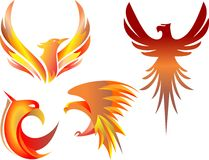Płomienna ptasia ilustracja Fotografia Royalty Free