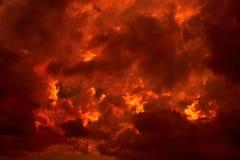 Płomienny niebo Fotografia Royalty Free