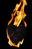 płomienny serce Zdjęcie Royalty Free