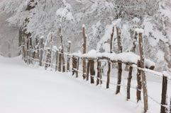 płotowa zima Zdjęcie Stock