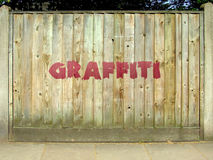 płotowi graffiti Zdjęcia Royalty Free