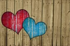płotowi serca dwa zdjęcie royalty free
