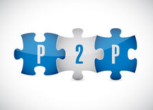 P2p puzzle pieces illustration design Royalty Free Stock Images