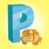 P Pancake icon great for any use. Vector EPS10. Royalty Free Stock Image