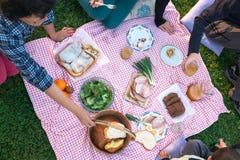 På picknicken Royaltyfria Bilder
