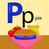 P for Pie. The letter P for Pie Royalty Free Stock Photo