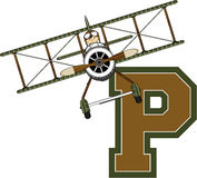 P is for Pilot Royalty Free Stock Image