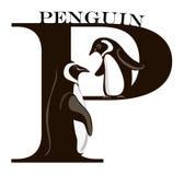 p-pingvin stock illustrationer
