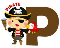 P For Pirate Stock Image