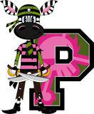P is for Pirate - Zebra Stock Image