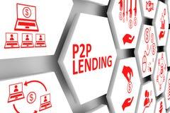 P2P pożyczania pojęcie ilustracja wektor