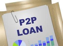 P2P pożyczki pojęcie Zdjęcie Royalty Free