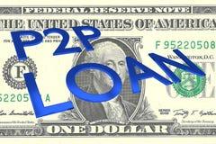 P2P pożyczki pojęcie Obrazy Stock