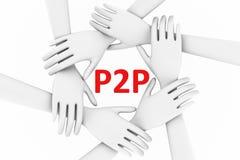 P2P pojęcie Obrazy Royalty Free