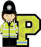 P is for Policeman Royalty Free Stock Photo