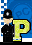 P is for Policeman Royalty Free Stock Photos