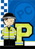 P is for Policeman Royalty Free Stock Photography