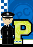 P is for Policeman Royalty Free Stock Images