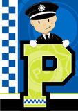 P is for Policeman Royalty Free Stock Image