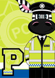 P is for Policeman - Zebra Stock Image
