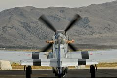 P-51 Preparing for a Race Royalty Free Stock Images