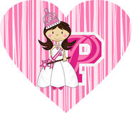 P is for Princess Royalty Free Stock Photography