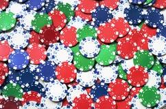 Pôquer Chip Background Fotografia de Stock