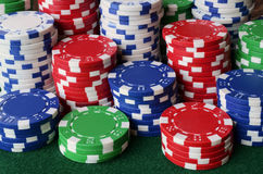 Pôquer Chip Background Imagens de Stock Royalty Free