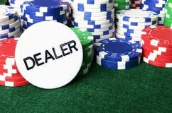 Pôquer Chip Background Fotos de Stock