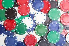 Pôquer Chips Background Imagens de Stock