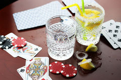 Pôquer de vidro do gelo Fotos de Stock Royalty Free