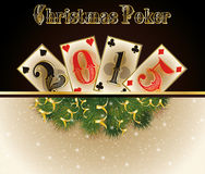Pôquer do Natal 2015 anos novos feliz Foto de Stock Royalty Free