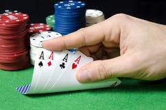 Pôquer dos áss Imagens de Stock