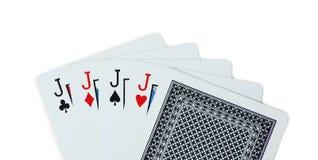 Pôquer dos cartões de jogo Fotografia de Stock