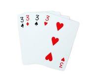 Pôquer dos cartões de jogo Fotos de Stock