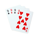 Pôquer dos cartões de jogo Foto de Stock Royalty Free