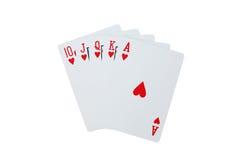 Pôquer dos cartões de jogo Foto de Stock