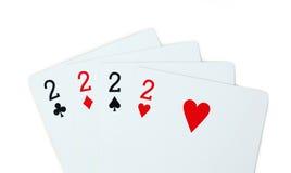Pôquer dos cartões de jogo Imagens de Stock Royalty Free