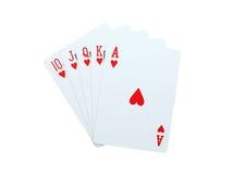 Pôquer dos cartões de jogo Imagens de Stock