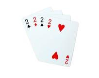 Pôquer dos cartões de jogo Imagem de Stock