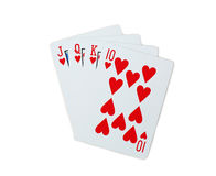 Pôquer dos cartões de jogo Fotos de Stock Royalty Free