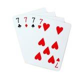 Pôquer dos cartões de jogo Imagem de Stock Royalty Free