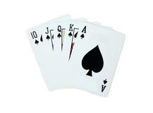 Pôquer dos cartões de jogo da pá Fotografia de Stock Royalty Free
